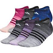 adidas Women's Superlite Multi Space Dye No Show Socks – 6 Pack