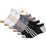 adidas Women's Superlite Shine No Show Socks – 6 Pack
