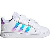 adidas Toddler Grand Court Sparkle Strap Shoes
