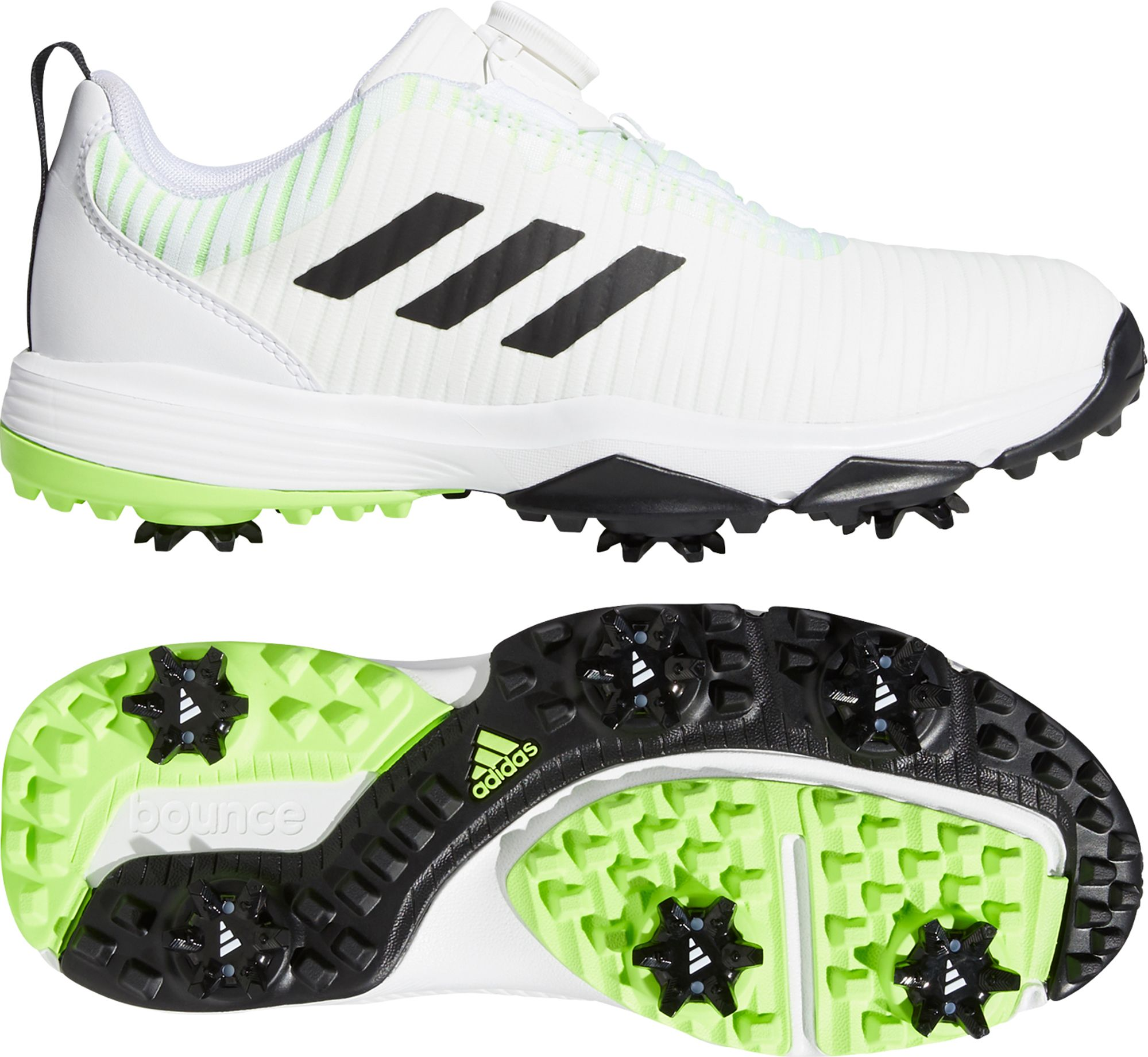 adidas Jr. CODECHAOS BOA Golf Shoes, Kids, White