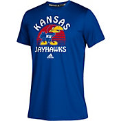 adidas Youth Kansas Jayhawks Blue Grad Climalite Performance T-Shirt