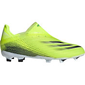 adidas Kids' X Ghosted + Laceless FG Soccer Cleats