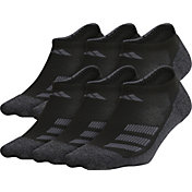 adidas Youth Cushioned Angle Stripe No-Show Socks – 6 Pack
