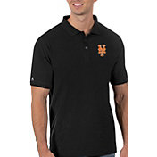 Antigua Men's New York Mets Black Legacy Polo
