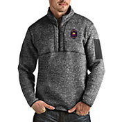 Antigua Men's Chicago Fire Grey Fortune Quarter-Zip Pullover