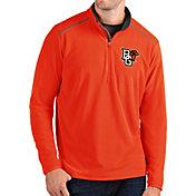 Antigua Men's Bowling Green Falcons Orange Glacier Quarter-Zip Shirt