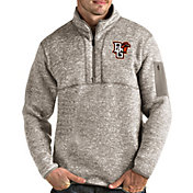 Antigua Men's Bowling Green Falcons Oatmeal Fortune Pullover Black Jacket