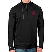 Antigua Men's Alabama Crimson Tide Black Generation Half-Zip Pullover Shirt