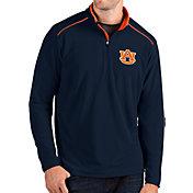 Antigua Men's Auburn Tigers Blue Glacier Quarter-Zip Shirt