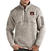 Antigua Men's Auburn Tigers Oatmeal Fortune Pullover Black Jacket