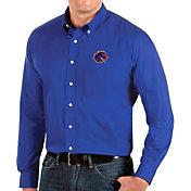 Antigua Men's Boise State Broncos Blue Dynasty Long Sleeve Button-Down Shirt
