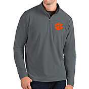 Antigua Men's Clemson Tigers Grey Glacier Quarter-Zip Shirt