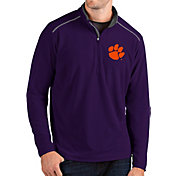 Antigua Men's Clemson Tigers Purple Glacier Quarter-Zip Shirt