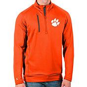 Antigua Men's Clemson Tigers Orange Generation Half-Zip Pullover Shirt