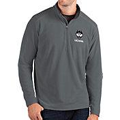 Antigua Men's UConn Huskies Grey Glacier Quarter-Zip Shirt