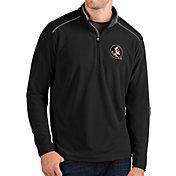 Antigua Men's Florida State Seminoles Glacier Quarter-Zip Black Shirt
