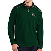Antigua Men's Hawai'i Warriors Green Glacier Quarter-Zip Shirt