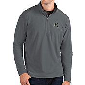 Antigua Men's Hawai'i Warriors Grey Glacier Quarter-Zip Shirt
