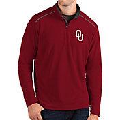 Antigua Men's Oklahoma Sooners Crimson Glacier Quarter-Zip Shirt