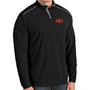 Antigua Men's Oklahoma State Cowboys Glacier Quarter-Zip Black Shirt