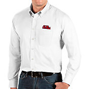 Antigua Men's Ole Miss Rebels Dynasty Long Sleeve Button-Down White Shirt