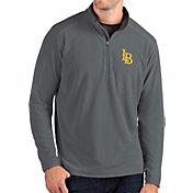 Antigua Men's LSU Tigers Grey Glacier Quarter-Zip Shirt