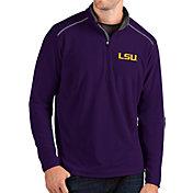 Antigua Men's LSU Tigers Purple Glacier Quarter-Zip Shirt