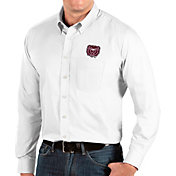 Antigua Men's Missouri State Bears Dynasty Long Sleeve Button-Down White Shirt