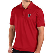 Antigua Men's NC State Wolfpack Red Balance Polo