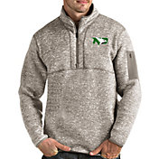 Antigua Men's North Dakota Fighting Hawks Oatmeal Fortune Pullover Black Jacket
