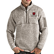 Antigua Men's Arkansas State Red Wolves Oatmeal Fortune Pullover Black Jacket