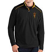 Antigua Men's Arizona State Sun Devils Glacier Quarter-Zip Black Shirt