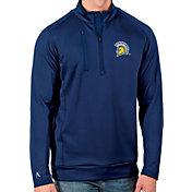 Antigua Men's San Jose State  Spartans Blue Generation Half-Zip Pullover Shirt