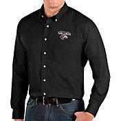 Antigua Men's Southern Illinois  Salukis Dynasty Long Sleeve Button-Down Black Shirt