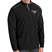 Antigua Men's Southern Illinois  Salukis Glacier Quarter-Zip Black Shirt