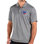 Antigua Men's Southern Methodist Mustangs Grey Balance Polo