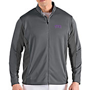 Antigua Men's TCU Horned Frogs Grey Passage Full-Zip Jacket