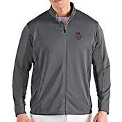 Antigua Men's Tulsa Golden Hurricane Grey Passage Full-Zip Jacket