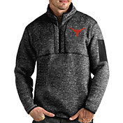 Antigua Men's Texas Longhorns Fortune Pullover Black Jacket