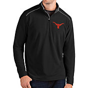 Antigua Men's Texas Longhorns Glacier Quarter-Zip Black Shirt