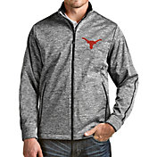 Antigua Men's Texas Longhorns Full-Zip Golf Black Jacket