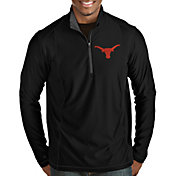 Antigua Men's Texas Longhorns Tempo Half-Zip Pullover Black Shirt