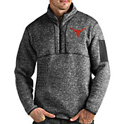 Antigua Men's Texas Longhorns Grey Fortune Pullover Jacket