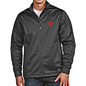 Antigua Men's Texas Longhorns Grey Full-Zip Golf Jacket