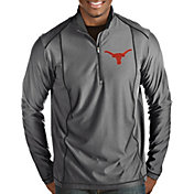 Antigua Men's Texas Longhorns Grey Tempo Half-Zip Pullover Shirt