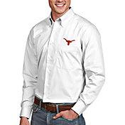 Antigua Men's Texas Longhorns Dynasty Long Sleeve Button-Down White Shirt