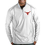 Antigua Men's Texas Longhorns Tempo Half-Zip Pullover White Shirt