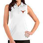 Antigua Women's Texas Longhorns Tribute Sleeveless White Polo