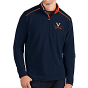 Antigua Men's Virginia Cavaliers Blue Glacier Quarter-Zip Shirt