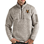 Antigua Men's Vermont Catamounts Oatmeal Fortune Pullover Black Jacket